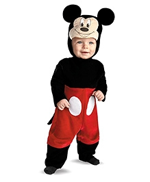 Disney Mickey Mouse Infant Costume - Black And Red