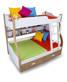 Alex Daisy Columbia Wooden Bunk Bed - Oak