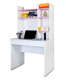 Alex Daisy Wooden Study Table - Pink