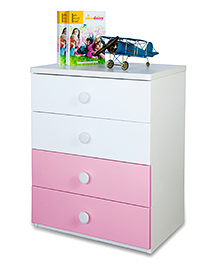 Alex Daisy Wooden Chest Of Drawers - Victoria - Pink
