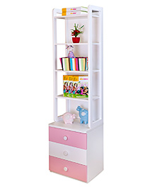 Alex Daisy Wooden Bookcase Victoria - Pink