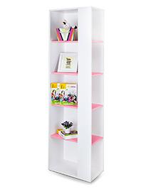 Alex Daisy Vertical Wooden Bookcase Prism - Pink