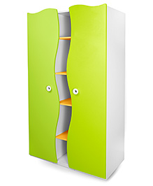 Alex Daisy Wooden Wardrobe Prism - Yellow And Green