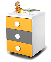 Alex Daisy Wooden Movable Drawer Set  - Solo - Orange