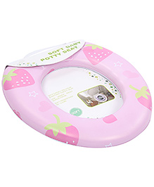 Baby Cushion Potty Seat Without Handle Strawberry Print - Pink