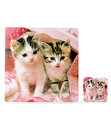 Table Mats Cat Print Pack Of 8 Pieces - Multicolour