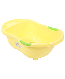 Baby Bath Tub Elephant And Duck Print - Yellow