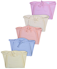 Babyhug Muslin Padded Solid Interlock Fabric Nappy - Pack Of 5