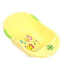 Musical Baby Bath Tub Elephant And Duck Print - Yellow