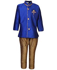 Babyhug Jodhpuri Brijesh Suit Self Pattern - Royal Blue