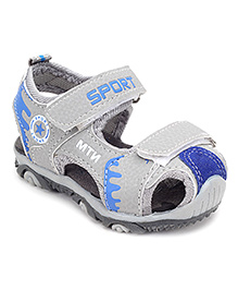Doink Closed Toe Floaters Sports Design - Light Grey