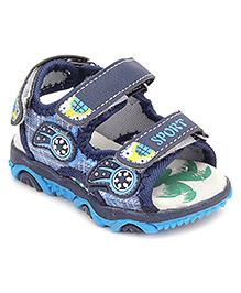 Doink Floater Sandals Velcro Straps Sports Design - Navy Blue