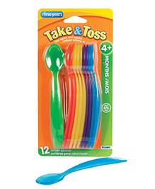 The First Years Take And Toss Infant Spoons Multicolour - Pack Of 16