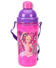 Barbie Eco Sipper Water Bottle Large Pink And Purple - 550 ml