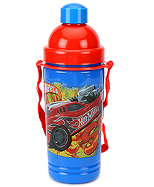 Hotwheels Eco Sipper Water Bottle Large Red And Blue - 550 Ml