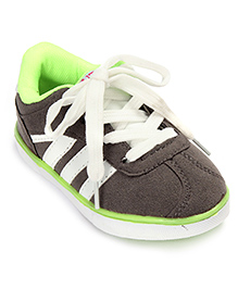 Cute Walk Sneakers Lace Up Style - Green And Dark Beige