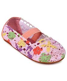 Doink Belly Shoes Floral Design - Pink