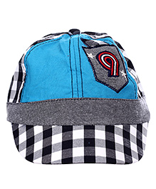 Babyhug Basketball Cap Number 9 Patch - White And Blue