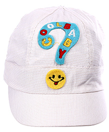 Babyhug Sport Cap With Attracive Detailing- White