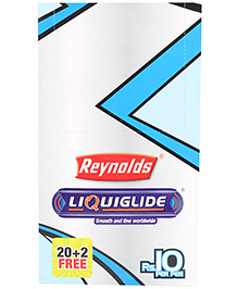 Reynolds Liquiflo Nxt Ball Pen Pack of 20 - Blue