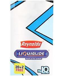 Reynolds Liquiflo Nxt Ball Pen Pack of 20 - Black