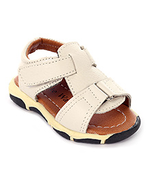 Cute Walk Casual Sandals With Velcro Strap - Beige