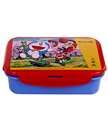 Doraemon Lunch Box With Small Container - Red And Blue