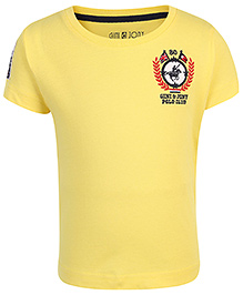 Gini & Jony Half Sleeves T-Shirt Solid Color - Yellow