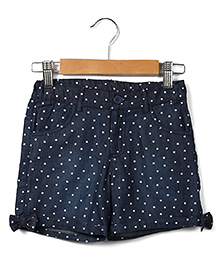 Beebay Chambray Shorts Star Print - Blue