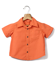 Beebay Half Sleeves Shirt - Orange