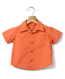 Beebay Half Sleeves Shirt - Orange