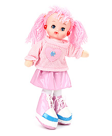 Tickles Doll With Light And Music Pink - Height 34 Cm