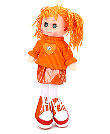 Tickles Doll With Light And Music Orange - Height 36 Cm