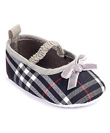 Cute Walk Bow Booties - Grey