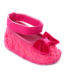 Cute Walk Bow Booties - Fuchsia