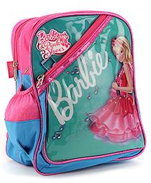 Barbie Printed School Bag Green And Aqua - 12 inches