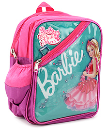 Barbie Printed School Bag Green And Purple - 12 inches