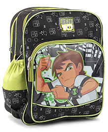 Ben 10 School Bag Black Green - 14 inches
