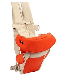 3 in 1 Soft Baby Carrier - Orange And Cream