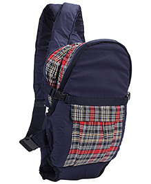 3 In 1 Soft Baby Carrier Checks Print Blue And Red - 2006