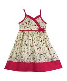 Ssmitn Cotton Dress Bird Print - Pink