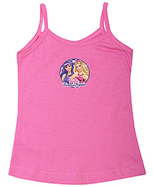 Barbie Singlet Slips Pop Star Print - Pink