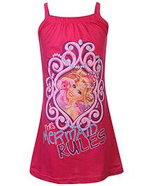 Barbie Mermaid Print Nighty - Fuchsia