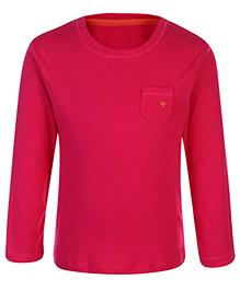 Babyhug Full Sleeves Top - Dark  Pink