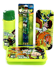 Ben 10 School Kit Green - Pack Of 4