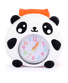 Slap Style Watch Panda Design - Orange And White