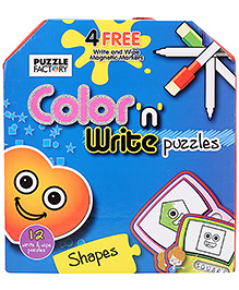 Chitra Color And Write Puzzle Shapes - English