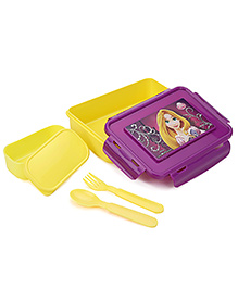 Disney Princess Lunch Box Spoon And Fork - Yellow And Purple