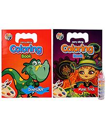 Chitra Set Of 2 Coloring Books Magic Trick - English