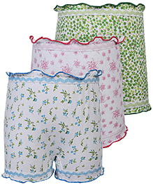 Cucumber Bloomers Printed Set Of 3 - Pink Blue Green